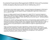 Customer Experience Management (CEM) & Voice of Customer (VOC) Analyti
