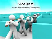 Leading Team Out Of Maze Business PowerPoint Templates And PowerPoint