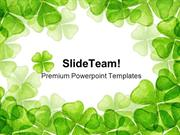 Leaf Clover Nature PowerPoint Templates And PowerPoint Backgrounds ppt