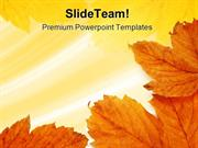Leaves Frame Background PowerPoint Templates And PowerPoint Background