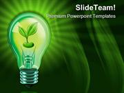 Light Bulb With Plant Nature PowerPoint Templates And PowerPoint Backg