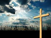 Light Shining On Cross Religion PowerPoint Templates And PowerPoint Ba