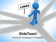 Links Leadership PowerPoint Templates And PowerPoint Backgrounds ppt t