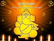 Lord Ganesh Hindu Religion PowerPoint Templates And PowerPoint Backgro