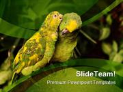 Love Birds Animals Nature PowerPoint Templates And PowerPoint Backgrou
