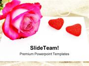 Love Letter Rose Wedding PowerPoint Templates And PowerPoint Backgroun
