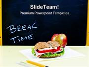 Lunch Break Education PowerPoint Templates And PowerPoint Backgrounds