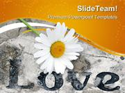 Love With Flower Religion PowerPoint Templates And PowerPoint Backgrou