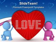 Love Peace Metaphor PowerPoint Themes And PowerPoint Slides ppt design