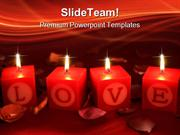 Love Shrine With Candles Beauty PowerPoint Templates And PowerPoint Ba