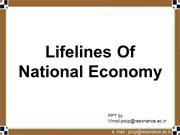 Lifelines Of National Economy