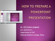 how to prepare powerpoint presentation