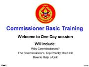 Boy Scout Commissioner Training