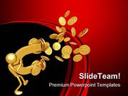 Magnet Attracting Coins Finance PowerPoint Templates And PowerPoint Ba