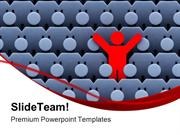 Man Among Crowd Of People Leadership PowerPoint Templates And PowerPoi