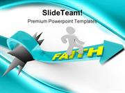 Man Rides On Faith Religion PowerPoint Templates And PowerPoint Backgr
