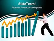 Man With A Graphic Business PowerPoint Themes And PowerPoint Slides pp