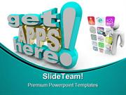 Many Applications Technology PowerPoint Templates And PowerPoint Backg