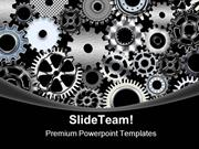 Many Gears Industrial PowerPoint Themes And PowerPoint Slides ppt desi