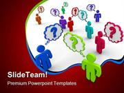 Many People Thinking Communication PowerPoint Templates And PowerPoint