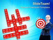 Marketing Crossword Success PowerPoint Templates And PowerPoint Backgr