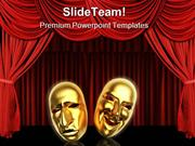 Masks Entertainment PowerPoint Templates And PowerPoint Backgrounds pp