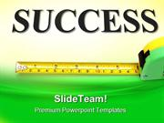 Measure Success Business PowerPoint Templates And PowerPoint Backgroun