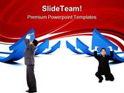 Men Pushing Arrows Business PowerPoint Themes And PowerPoint Slides pp