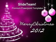 Merry Christmas Tree Abstract PowerPoint Templates And PowerPoint Back