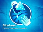 Mobile Phone Technology PowerPoint Templates And PowerPoint Background