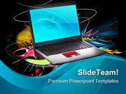 Modern And Stylish Notebook Computer PowerPoint Templates And PowerPoi