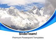 Mount Everest Nature PowerPoint Templates And PowerPoint Backgrounds p