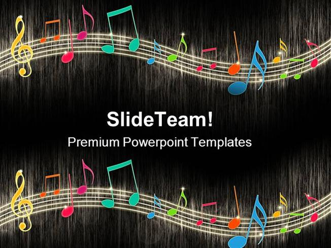 music notes background entertainment powerpoint templates and powe