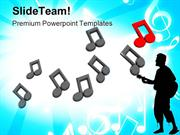 Music Notes Background Entertainment PowerPoint Templates And PowerPoi