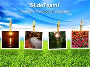 Natural Polaroid Environment PowerPoint Themes And PowerPoint Slides p