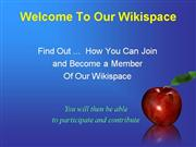 Join Our WIkispace