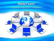 Network Concept Computer PowerPoint Templates And PowerPoint Backgroun