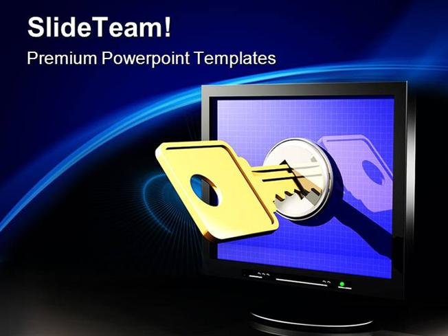 Network Access Computer Powerpoint Templates And Powerpoint Backgr
