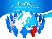 Network Concept Leadership PowerPoint Templates And PowerPoint Backgro
