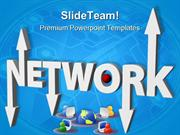 Networking Through Computer Global PowerPoint Templates And PowerPoint