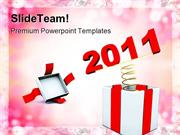 New Year Present Holidays PowerPoint Templates And PowerPoint Backgrou