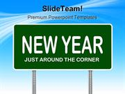 New Year Sign Future PowerPoint Templates And PowerPoint Backgrounds 0