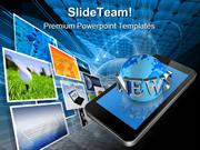 News On Mobile Communication PowerPoint Themes And PowerPoint Slides p