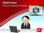 News Reporter Media PowerPoint Themes And PowerPoint Slides ppt design