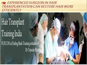 Hair Transplantation Can Restore Hair More Efficiently