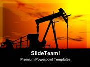 Oil Pump Machine Industrial PowerPoint Templates And PowerPoint Backgr