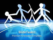 One Falling In Team Business PowerPoint Templates And PowerPoint Backg
