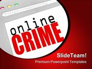 Online Crime Web Screen Internet PowerPoint Templates And PowerPoint B