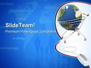 Online Global Shopping Internet PowerPoint Templates And PowerPoint Ba