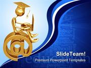 Online Graduate Education PowerPoint Templates And PowerPoint Backgrou